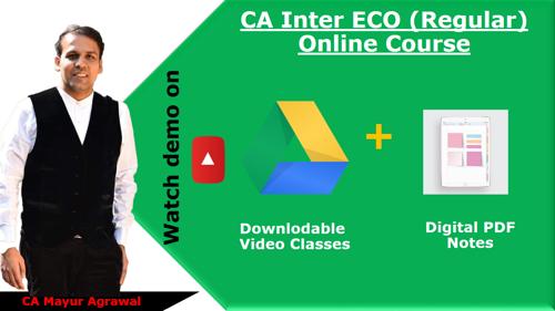 Picture of CA Inter Economics (Google Drive + Digital Notes)